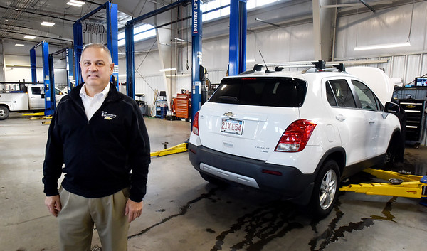 BRYAN EATON/Staff photo. Ron Caswell, Amesbury Chevrolet service department manager.