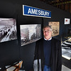 BRYAN EATON/Staff photo. John Mayer of the Amesbury Carriage Museum shows off new display space they have in Market Square.