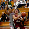 JIM VAIKNORAS/Staff photo Newburyport's Parker McLaren drives to the basket at Lowell Saturday.