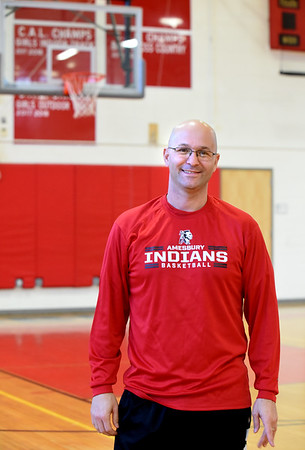 BRYAN EATON/Staff photo. Amesbury High School girls basketball head coach Gregg Dollas.
