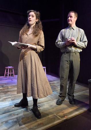 BRYAN EATON/Staff photo. Caroline Hall as Lizzie and Michael Johnson as Peter.