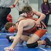 AMANDA SABGA/Staff photo<br /> <br /> Triton's Anthony Ostrander faces off against Middleboro's Jacob Studley during the MIAA all-state wrestling meet at St. John's Prep in Danvers. <br /> <br /> <br /> 2/23/19