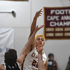 JIM VAIKNORAS/Staff photo Newburyport's Casey McLaren with a hook shot against Swampscott at Newburyport High School Monday night.