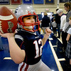BRYAN EATON/Staff photo. The Immaculate Conception School in Newburyport held a Wax Museum, part of Catholic Schools Week on Wednesday. Max Byron, 9, was one of several students portraying Tom Brady who has been somewhat in the news of late.
