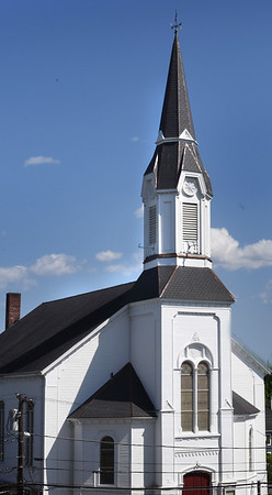 BRYAN EATON/Staff photo. Market Street Baptist Church in Amesbury.