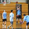 BRYAN EATON/Staff photo. Triton boys basketball team in practice.