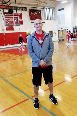 BRYAN EATON/Staff photo. Amesbury High School girls basketball head coach Gregg Dollas.