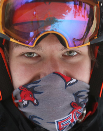 MIKE SPRINGER/Staff photo<br /> Adam Payne is one of a group of skiers from Pentucket Regional High School who are members of the Haverhill High School ski team.
