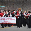 BRYAN EATON/Staff Photo. The Amesbury High School Marching Band performs in the Veterans Day Parade.