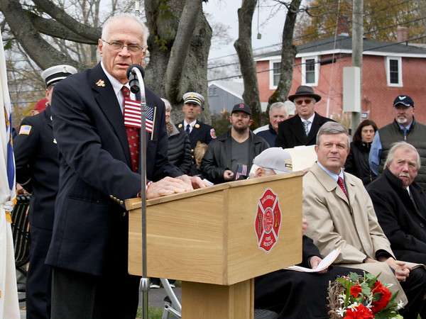Karen Cameron Photo. U.S. Air Force veteran William Shuttleworth spoke at Salisbury's Veterans Day observance. He stressed that it's important to remember the service of veterans not just on that day, but throughout the year.