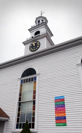 BRYAN EATON/Staff Photo. East Parish United Methodist Church in Salisbury Square.