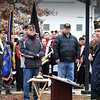 BRYAN EATON/Staff Photo. Former U.S. Marine Corp Sgt. John Clifford was guest speaker at the Amesbury Veterans Day Service.