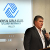 BRYAN EATON/Staff Photo. Former Boston Bruin player Ray Bourque speaks at the Boys and Girls Club Breakfast where he announced his family's foundation was contributing $30,000 to the club's capitall campaign.