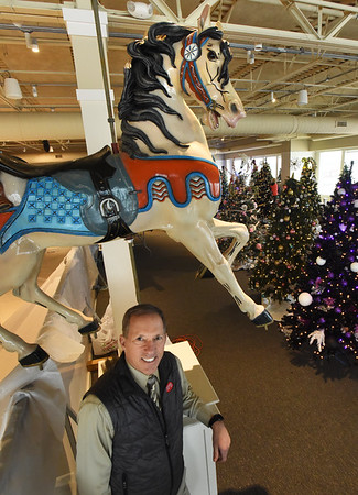 BRYAN EATON/Staff Photo. Wayne Capolupo and the Salisbury Beach Partnership have procured an original carousel from 1909 and hope to have it on hand by next year.