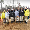 BRYAN EATON/Staff photo. The crew from Americorps working on a project for Habitat For Humanity are from all over the country.