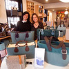 JIM VAIKNORAS/Staff photo Claudia Ricci and Amy Baxendale of OBags in Newburyport talk about Black Friday in Newburyport.