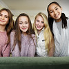 BRYAN EATON/Staff photo. A gymnastics video these Newburyport girls did got to air on America's Funniest Videos, from left, Greer Marino, 12, Avery Stare, 11, Alexic Greenblott, 12, and Lily Su, 11.
