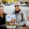 BRYAN EATON/Staff photo. Bonnie Brady, at right, and Sandra Morrissey in Amesbury's Market Square.