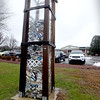 "BRYAN EATON/Staff photo. The ""trash tower"" at Newbury Elementary School."