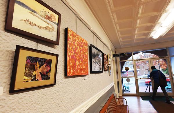 BRYAN EATON/Staff photo. Artwork on display at Amsbury Town Hall.