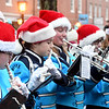 JIM VAIKNORAS/photo The triton Marching Band performs Sunday afternoon in Market Square at the Newburyport's annual parade and tree lighting.