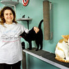 BRYAN EATON/Staff photo. Kelli Cassidy recently opened Cat Tales in Seabrook, a nonprofit cat rescue operation.