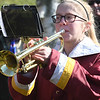 JIM VAIKNORAS/photo Newburyport High freshman Abby Parr plays taps at Veterans Cemetery Monday at the annual Veterans Day Ceremony.