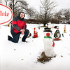 BRYAN EATON/Staff photo. Kyle Mallett once again has his property decorated for Christmas at his 19 South Martin Road home in Amesbury.