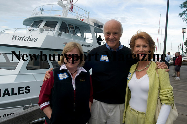 Ellin McSweeney of the Institution for Savings, and David and Cynthia Gompers of Juice Plus at the Greater Newburyport Chamber of Commerce & Industry annual Boat Cruise Mixer.