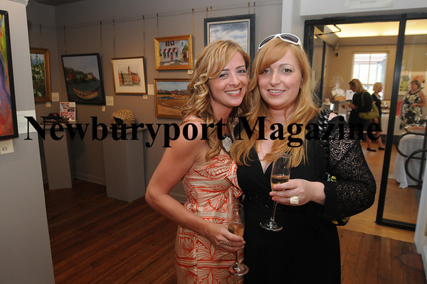 Artist Robin Luciano-Beaty, left, and Allison Spadafora enjoy the recieption before the Art Association Auction