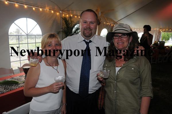 Donna Swanson, Michael Behan, and Deb Yaneen at the Anna Jaques Beach Safari at Salisbury Beach.