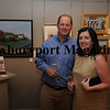 Dave and Lori Haraske of Amesbury enjoy the recieption before the Art Association Auction