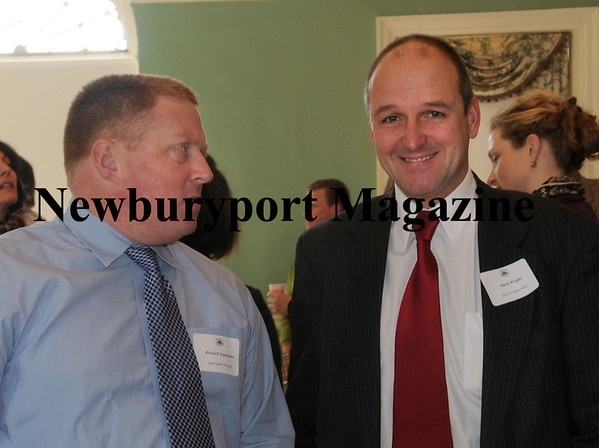 RIchard Napolitano of Anna Jaques Hospital, left, and Mark Wright of the Provident Bank. Photo by Bryan Eaton