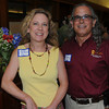 Carol LaRosa of LaRosa Public Relations, and Joe Gliottone at the Take Me Out to the Ball Game Chamber Mixer at the Institution for Saving.