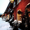 "Newburyport: ""Dressed in Holiday Style"". The lights, decorations, and snow give Inn Street the look of a Christmas card.photo by Jim Vaiknoras/Newburyport Daily News.Sunday December 21, 2008"
