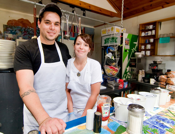 Newbury: Owner of Mad Martha's, Brad Delibro and his girlfriend, Jess Flanders. Photo by Ben Laing/Staff Photo