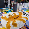 "Newbury: One of Mad Martha's signature ""character"" pancakes, in this case a crab. Children are encourage to order their favorite character or shapes, and are even challenged to stump the chef. Photo by Ben Laing/Staff Photo"
