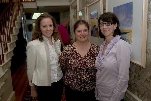 "Lydia Carothers, Ginny Rizzo and Fran Noval at ""Music in the Manse"" to benefit Newburyport Preservatopn Trust in honor of Newburyport  at the Home of Ted and Jenny Nelson.<br />  Jim Vaiknoras photo"