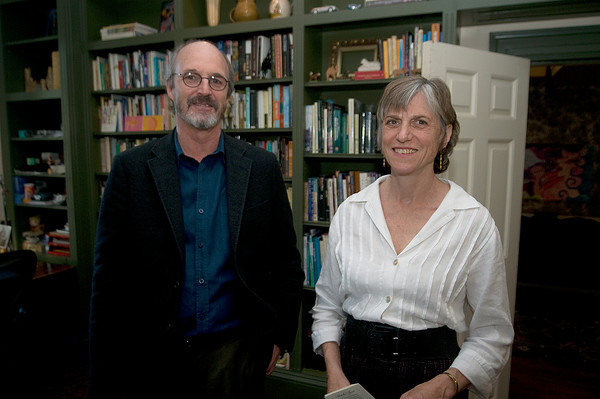 """Mike Davis and Jane Niebling at """"Music in the Manse"""" to benefit Newburyport Preservatopn Trust in honor of Newburyport  at the Home of Ted and Jenny Nelson.<br />  Jim Vaiknoras photo"""