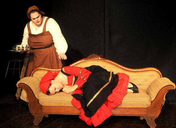 "Newburyport:Jesica Corbo as Aksinia and Beth Randall as Dunysha in the Theater in the Open production of "" The Woman with the Red Kerchief""<br /> Photo by Jim Vaiknoras/Newburyport Daily News Tuesday, September 02, 2008"