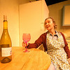 "Newburyport: <br /> Julie Arensman in ""Shirley Valentine"" a one woman show playing at the Firehouse Sept 7th -17th.<br /> Photo by Jim Vaiknoras/Newburyport Daily News. Monday, September 4, 2006"