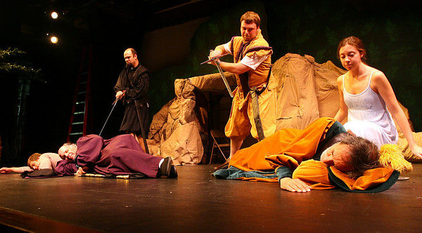 """Newburyport: The Fringe Players will perform Shakespeare's """"The Tempset"""" at the Firehouse Arts Center August 10-20th. The play will show at 7:30 Thursday through Saturday and 3:00 on Sunday.<br /> Photo by Katie McMahon/Newburyport Daily News. Monday, August 7, 2006"""