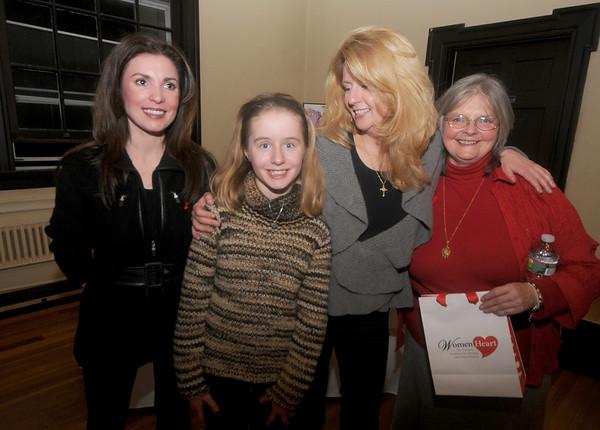 Heart attack Survivor Michele Demauer Wilke,artists Katrina Newfell, her mom Hiedi Newfell and Survivor Ruth Kerr