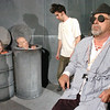"Newburyport: <br /> The cast of Samuel Beckett's play ""Endgame"" coming up at the FIrehouse Center in rehearsal. From left, Bonniejean Wilbur, Greg Chabot, Dylan Fuller and Paul Wann.<br /> Photo by Bryan Eaton/Newburyport Daily News. Tuesday, November 14, 2006"
