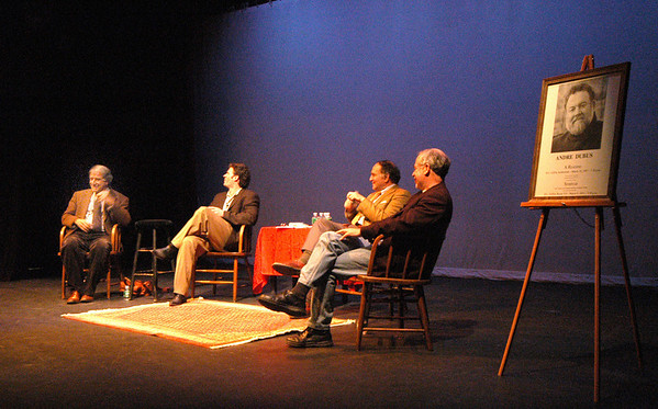 """Newburyport: <br /> """"Remembering Andre Dubus"""" at the Firehouse opens the Newburyport Literary Festival.<br /> Photo by Jim Vaiknoras/Newburyport Daily News. Friday, April 28, 2006"""