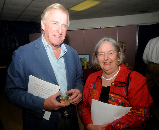 Al Clifford of Rowley and Liz Amstrong of Byfield  at the 'Bury Treasures Auction at Nicholson Hall in Nerburyport