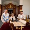 Rabbi Avi Poupko aling with .... read from the Torah