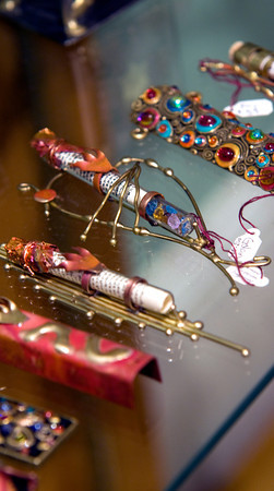 A collection of mezuzah at Annie's Gifts in Newburyport