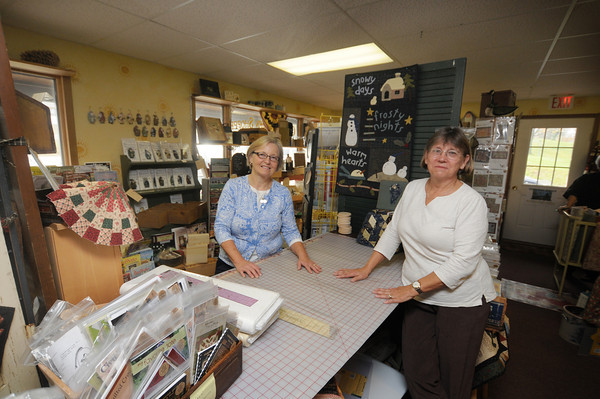 Quilted Acorn Shoppe owners Cynthia Erekson and Sandi Schauer