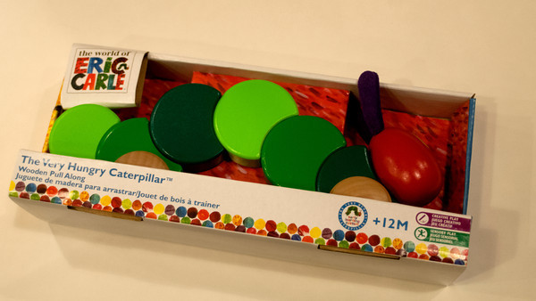 The Ver Hungry Caterpillar pull toy